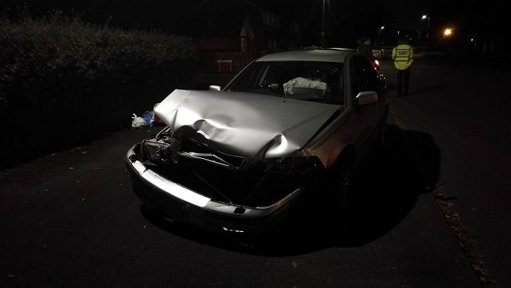 Close up of damage to the second car involved Pic: Benny Mc'Nally