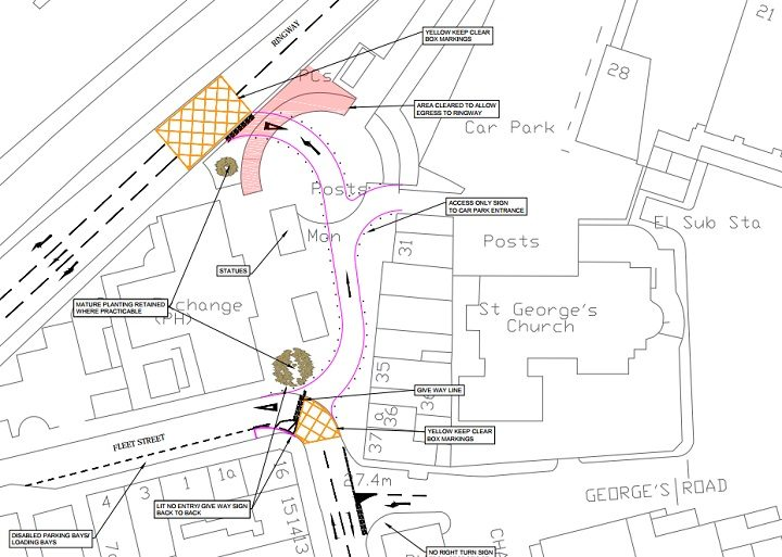 This is where the new Ringway junction will be. Tap to see full plans for Lune Street.