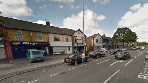 The incident took place outside a row of shops in Ribbleton Pic: Google