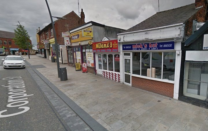 Milanos takeaway in Corporation Street Pic: Google