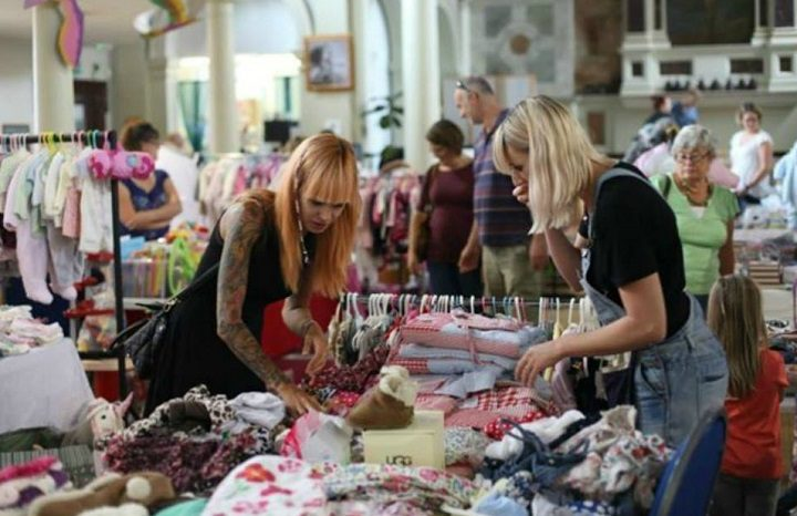 Mums hunt for bargains at a nearly new sale