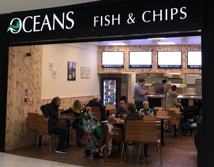 Ocean's fish and chips within St George's Shopping Centre