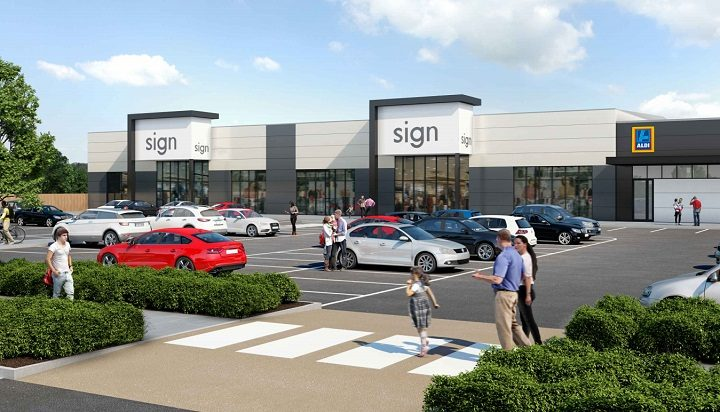 Where the new retail units are due to go