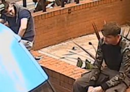 Two men pictured who police want to speak to