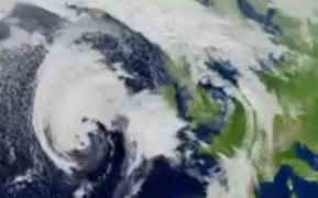 Storm Brian moving in from the Atlantic