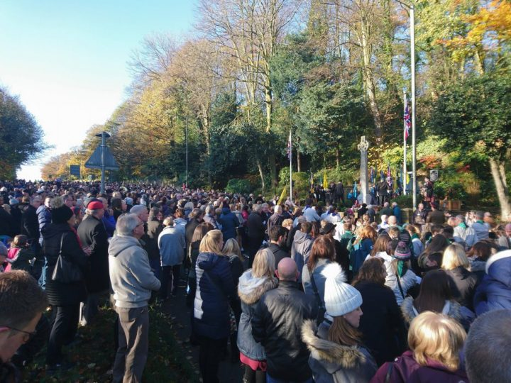 A large crowd watches on in Penwortham Pic: Chris Hough