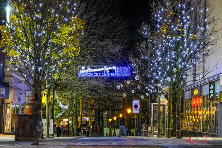 Christmas Lights looking towards the Flag Market Pic: Paul Melling