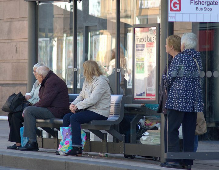 Waiting for the bus in Preston Pic: Tony Worrall