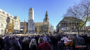 The Cenotaph during the 2017 remembrance service Pic: Paul Melling