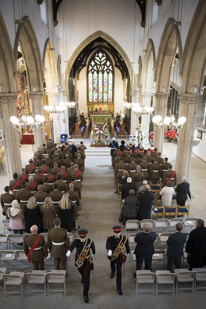 Inside the Minster for the service Pic: Sgt Jamie Peters RLC