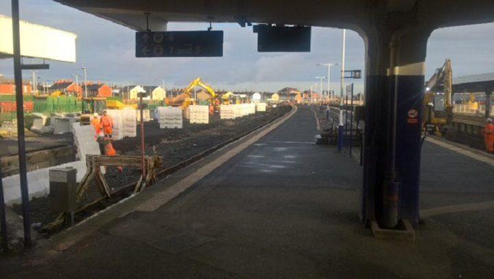 Work starts on the Blackpool-Preston line Pic: Network Rail
