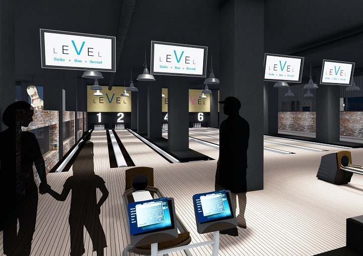 How the bowling alley inside the Guild Hall may look