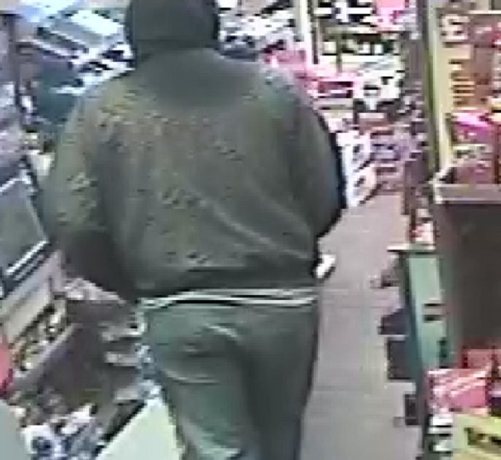Another view of the man wanted by police