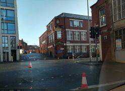 The scene in Corporation Street, Preston Pic: Matthew Duckworth