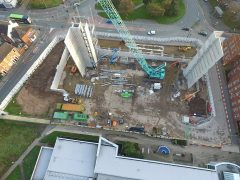 Drone pictures show the engineering building from a new height