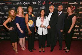 The Eldon Primary team with award sponsors Milk Education