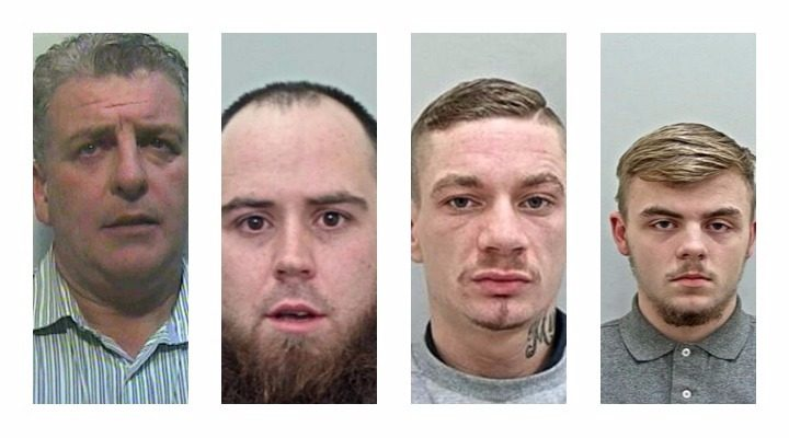 Pictures released by Preston Police of four men from the Preston area wanted in connection with various crimes