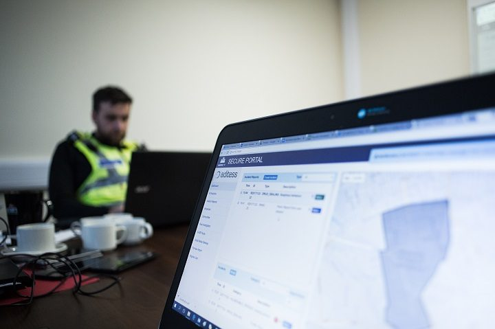 The police receive the information securely