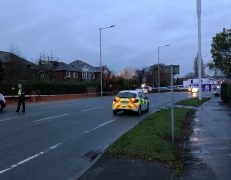 Police have closed Liverpool Road in both directions Pic: Andrew Livesey
