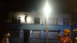 The building where the fire broke out