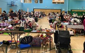 Inside a previous nearly new sale