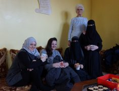 Sofia from the group is far right in full niqab