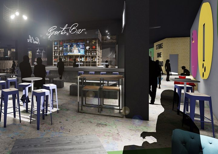 Inside the sports bar proposed for the Guild Hall