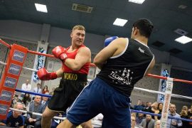 Wokko - Dean Watkinson - during the last fight of the evening