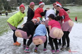 Runners showing off their bum pants