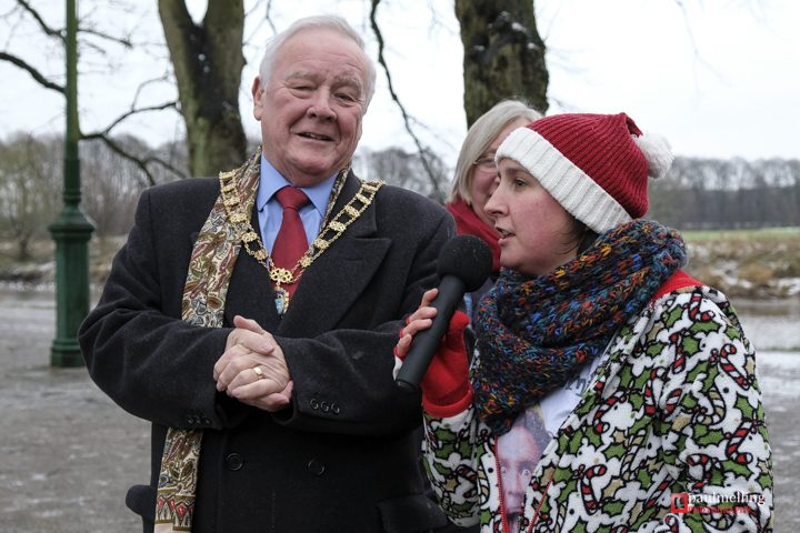 Louise Ashworth with Mayor of Preston councillor Brian Rollo