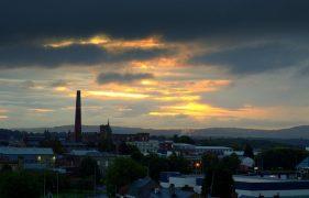 Dawn breaking over Preston Pic: Tony Worrall