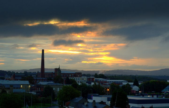 Dawn breaking over Preston Pic: Tony Worrall