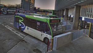 Buses lining up at Preston Bus Station Pic: 70023venus2009