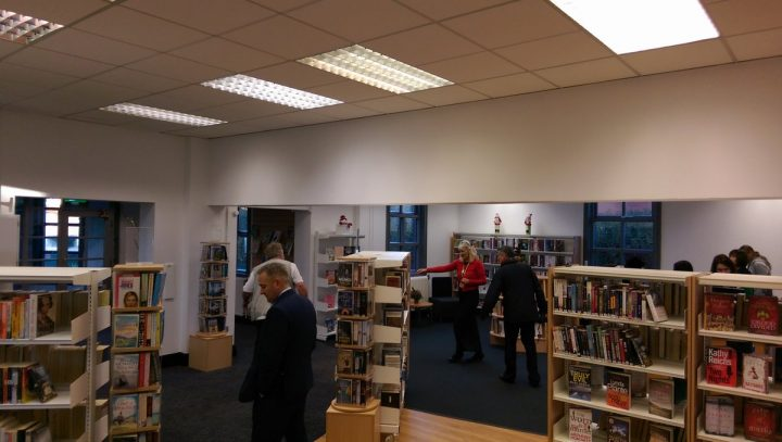 Inside the newly reopened Fulwood library
