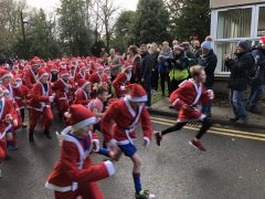 Setting off on the Santa Dash