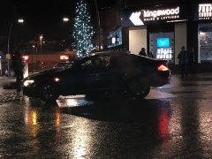 The scene in Fishergate saw yet another driver hit the bollard Pic: John/catterallwhite