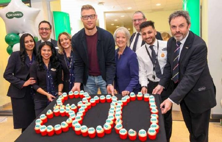 Andrew Flintoff joined staff to celebrate the new store openingAndrew Flintoff joined staff to celebrate the new store opening