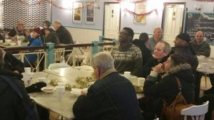 Last year's dinner for the homeless took place inside the current Indoor Market