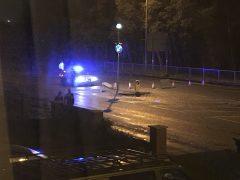 Scene of collision near Lea Gate Pic: Chris Pitcher
