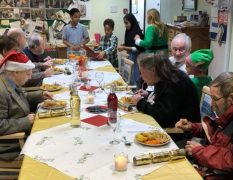 Some of the group enjoying their Christmas Day event