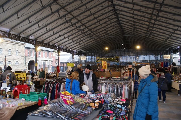 Another view of the outdoor covered market