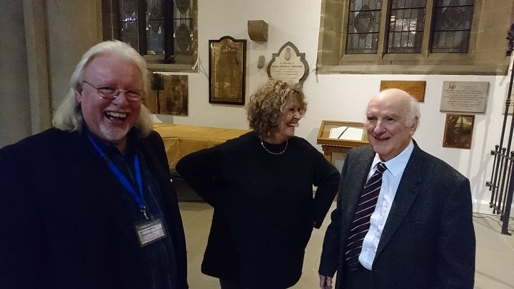 Paul, left, pictured at a recent Preston Historical Society event