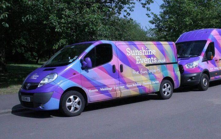 The distinctive van has been taken from a garage