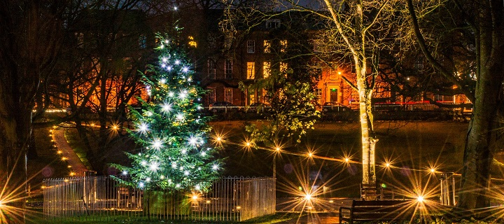 The Christmas tree in Winckley Square has now been restored