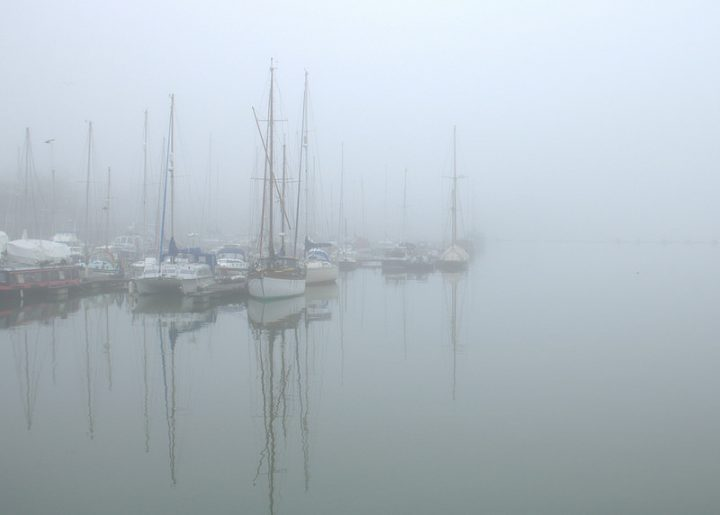 Fog on Preston Marina Pic: Tony Worrall