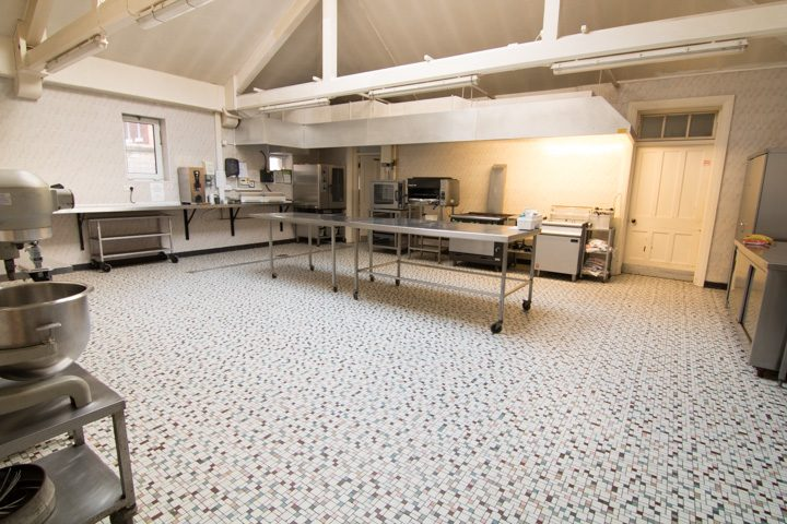 The kitchen of the care home