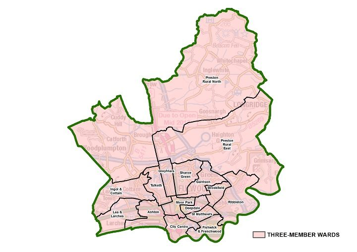 These would be the new ward boundaries for Preston