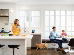 An Amazon Echo in a family setting - so you would say 'Alexa, tell me police updates'