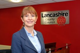 Angie Ridgwell on her first day at work in County Hall