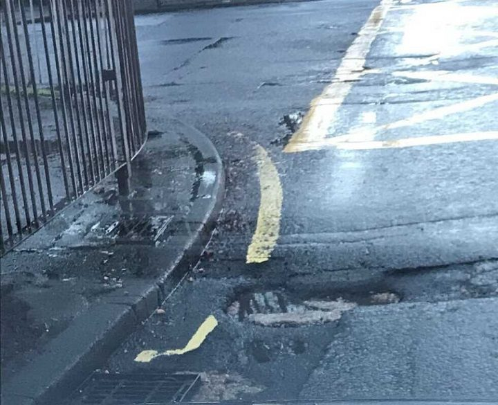 A recently reported pothole on the corner of the Blackpool Road/Tulketh Road junction Pic: FixMyStreet
